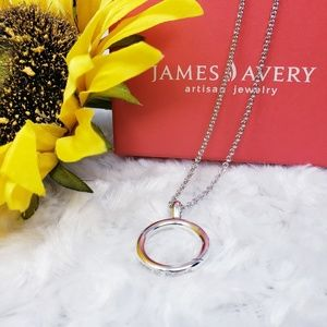 James Avery Circlet Charm Holder Necklace,  New